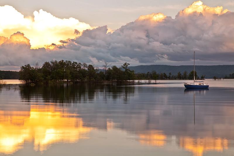 Sunset - Lake Ouachita - Dutchman Cove - Avant, Arkansas