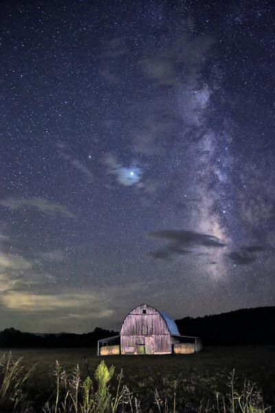 Milky Way Over the Smith Barn - Marshall, Arkansas - August 2020
