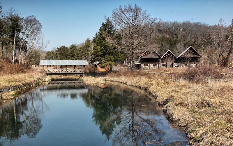 Covered Bridge and Ski Lodge - Dogpatch U.S.A.