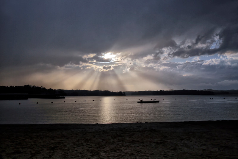 Sunrays Over Lake Balboa - Hot Springs Village, Arkansas - Spring 2016