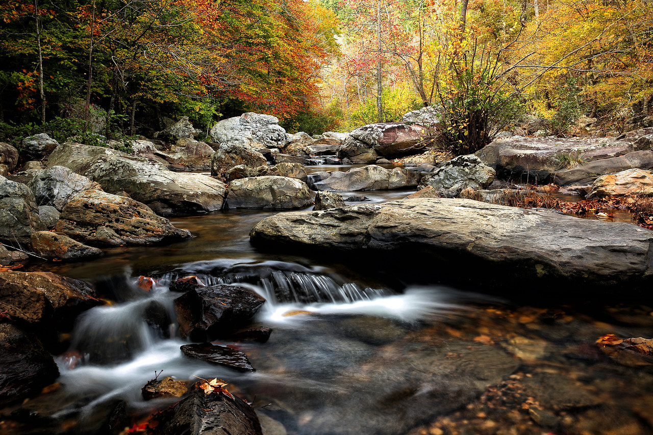 Little Missouri  Falls Area - Little Missouri River - Ouachita National Forest