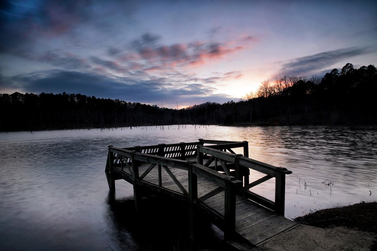 North Fork Lake at Sunset - Mount Ida, Arkansas - Winter 2016