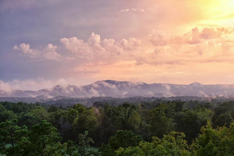 Fire Mountains - Shady Mountains - Ouachitas of Arkansas - Aug 2014