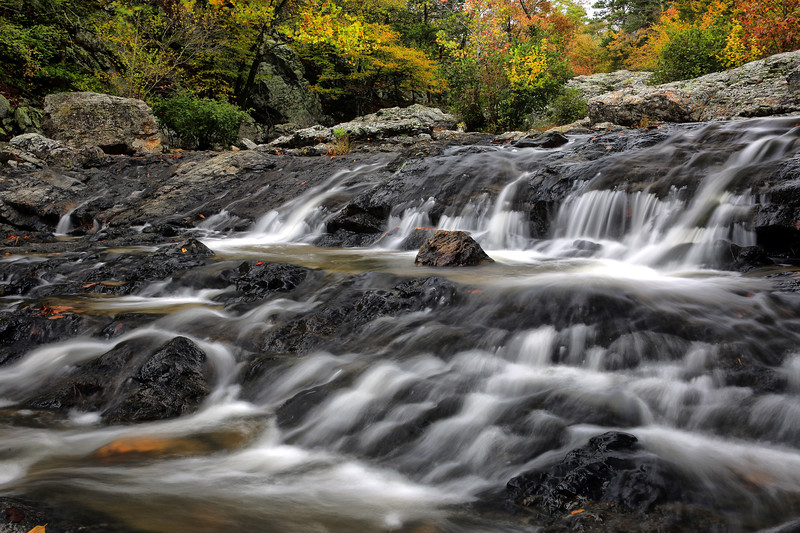 Little Missouri Falls in Fall - Ouachitas of Arkansas - Oct 22, 2017