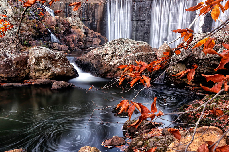 Shady Lake Falls and Dam - Fall - Nov 2016