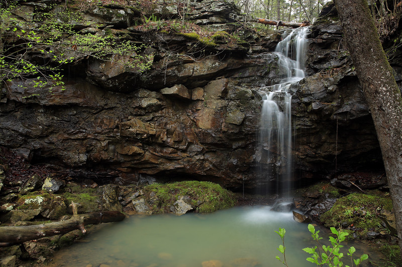 Grotto Falls - Upper Mitchell Branch Falls - Ouachita National Forest - Danville, Arkansas - Spring 2018