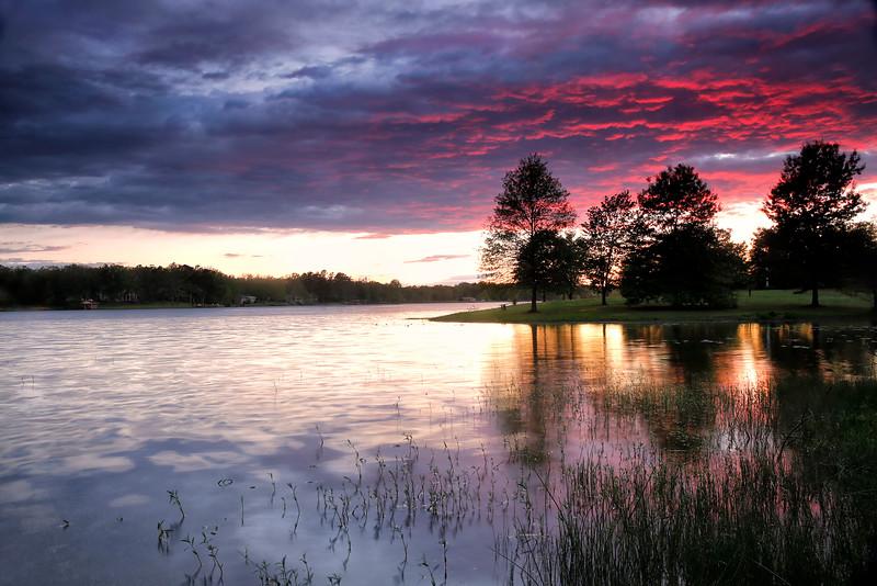 Storm Sunset - Mena Lake - Mena, Arkansas - April 19, 2015