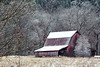 Frosted Red Barn - Ouachitas of Arkansas - Winter March 3, 2014