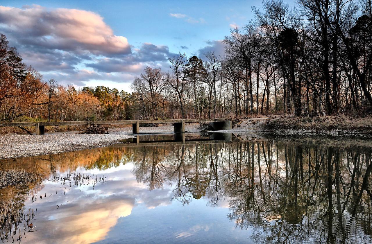 Winter Sunset - Ouachita River - Yocanna, Arkansas - Winter 2015