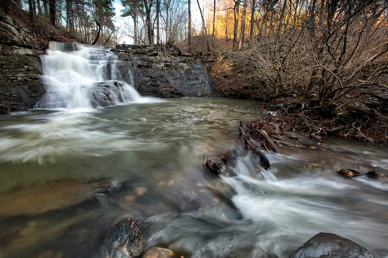 Kissed by the Light - Crooked Creek Falls - Ouachita National Forest - Arkansas - Winter 2017