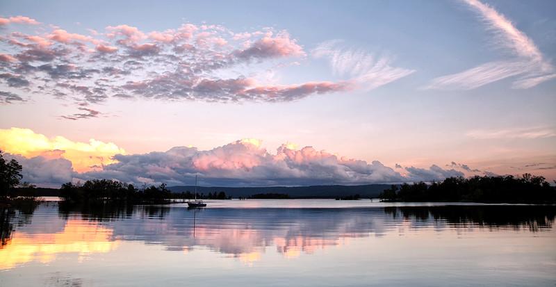 Sunset Pano - Lake Ouachita