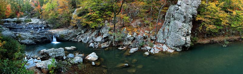 Little Missouri Falls Pano  - Fall - Ouachita National Forest