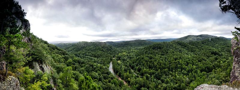 Overlooking Albert Pike - PANO - Little Missouri River - Ouachita National Forest