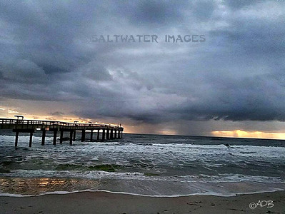 "Andrew Barkalow ~ ""Storm At The Pier"" Color Photo"