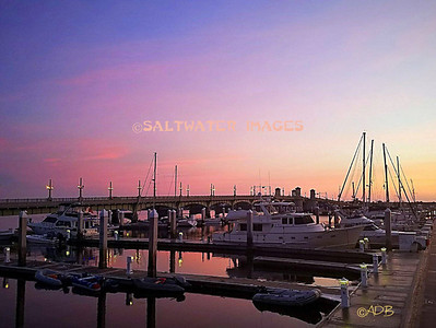 "Andrew Barkalow ~ ""City Marina: Spectacular Sunrise"" Color Photo"