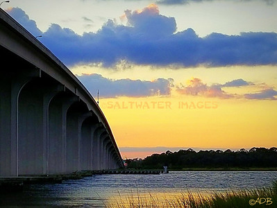 "Andrew Barkalow ~ ""Sunset At The 312 Bridge"" Color Photo"
