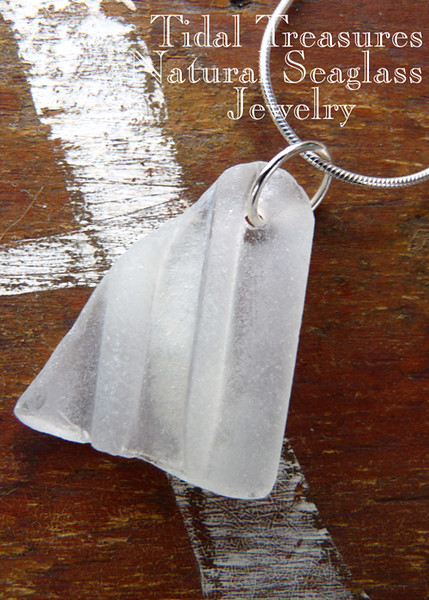 Ball Jar Rim Seaglass Necklace by Aimee K. Wiles Banion