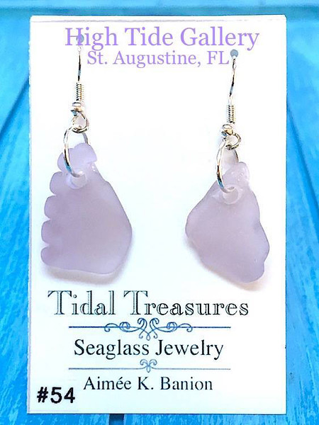 Tidal Treasures Lavender Seaglass  Earrings by Aimee K. Banion