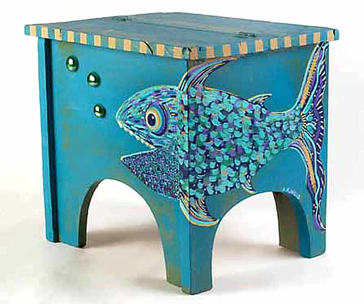 Handpainted Fish Box by Aimee K. Wiles Banion