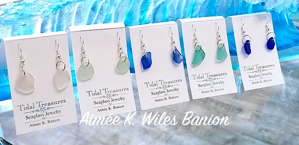 Natural Seaglass Earrings by Aimee K. Wiles Banion