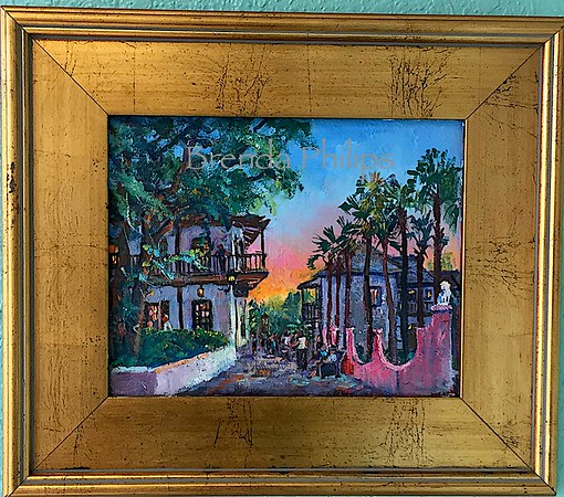 """St. George Street"" Original Oil Painting by Brenda Philips"