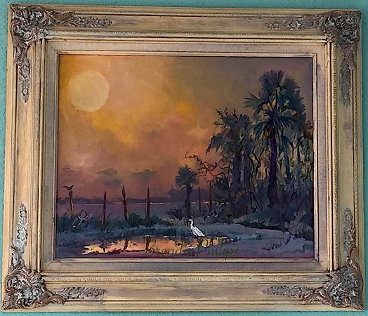 """Stoke's Landing"" Original Oil Painting by Brenda Philips"