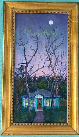 """Moon Over Riberia"" Original Oil Painting by Brenda Philips"