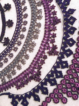 Caroline Redding Tatting Necklaces: PURPLE
