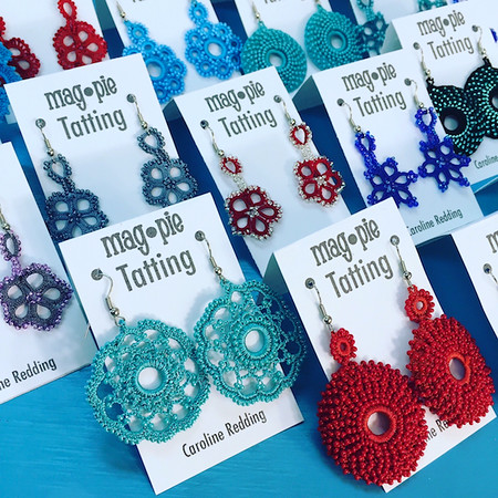 Caroline Redding Tatting Jewelry:  Earrings