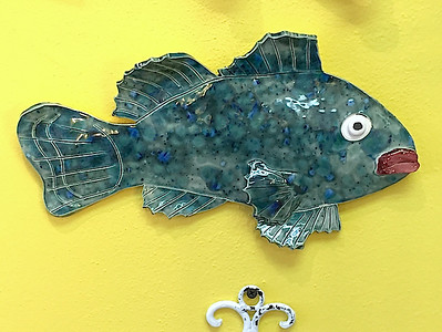 Whimsical Fish Ceramic Wall Decor - Deb C. Steiner
