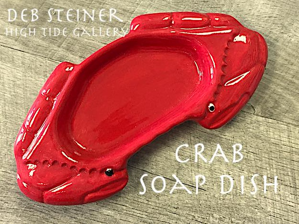 Red Crab Ceramic Soapdish - Deb C. Steiner
