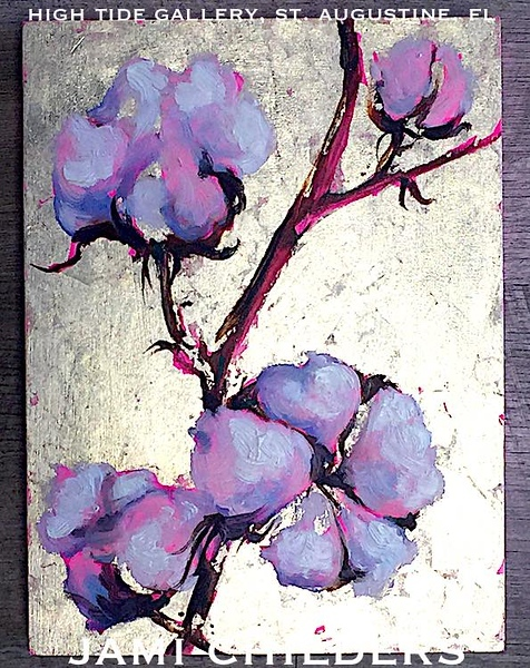 "JAMI CHILDERS ~ ""PINK COTTON"" ORIGINAL PAINTING"