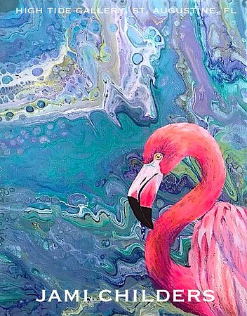 "JAMI CHILDERS ~ ""COLOR ME SHRIMP"" ORIGINAL PAINTING"