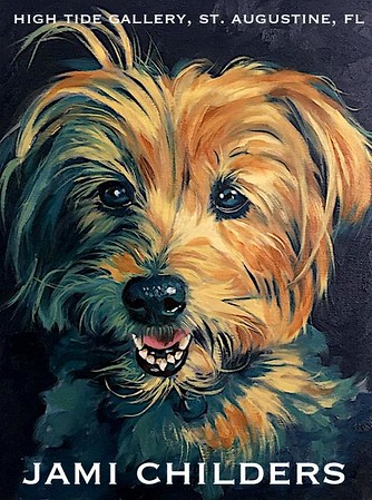 "JAMI CHILDERS ~ ""BLUE TERRIER"" ORIGINAL PAINTING"
