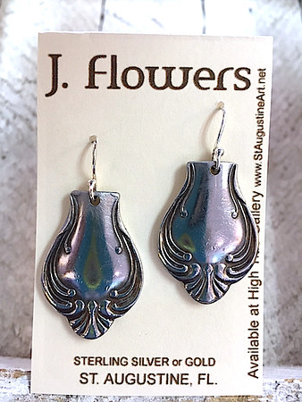 JANIS FLOWERS Silverware Spoon Earrings