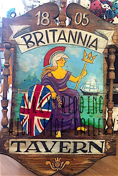 JERRY REDDING - BRITANNIA TAVERN HANDMADE SIGN