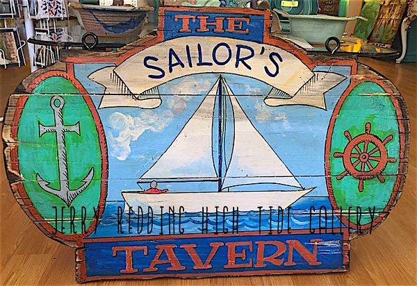 JERRY REDDING - Sailor's Tavern Handmade Sign