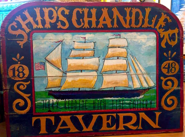 JERRY REDDING - SHIP'S CHANDLER HANDMADE SIGN
