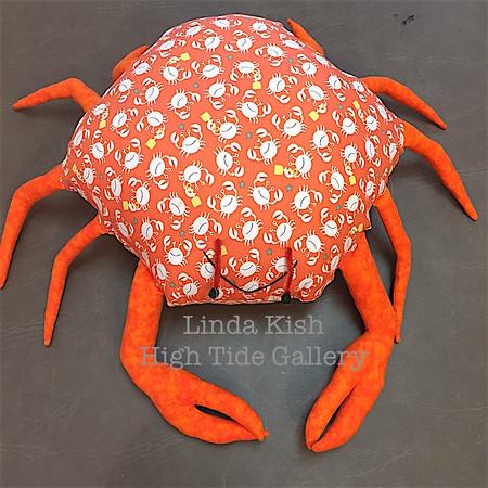 Happy Crab In Orange by Linda Kish