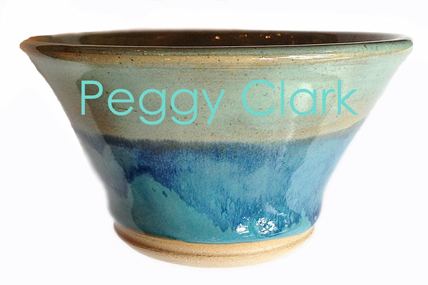 """ICE CREAM / SNACK BOWL"" Ocean Heirloom Lace Pottery by Peggy Clark"