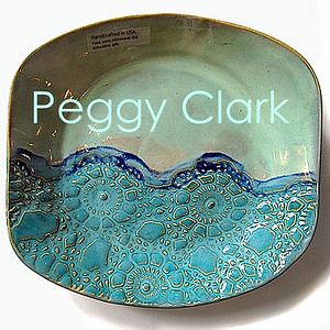 """SALAD BOWL"" Ocean Heirloom Lace Pottery by Peggy Clark"
