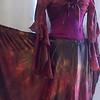 'silk road' satin circle skirt
