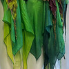 100% SILK: GORGEOUS Spring Flower Wrap- adjustable fits med up to xxlg!!!  $200