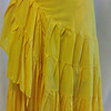 half wrap skirt yellow