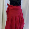 half wrap skirt Red