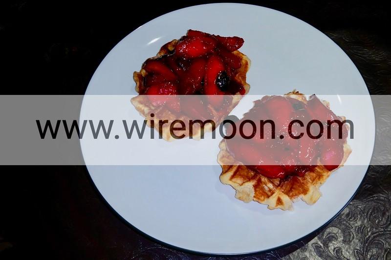 Seasonal fruit compote.