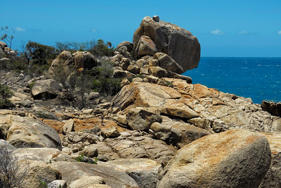 I am being utterly dwarfed by the size of those massive boulders.