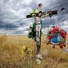 Roadside Memorial.  Storm Approaching. Colorado