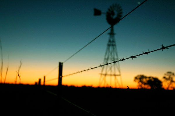 Windmill at Sunset<br /> Outback, NSW