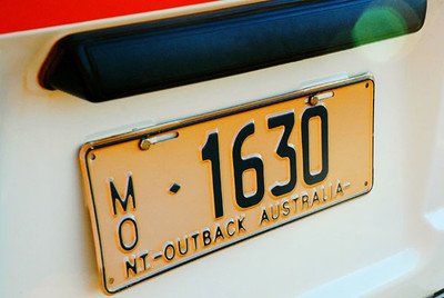 Northern Territory License Plate